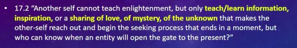 Law of One Teaching Enlightenment
