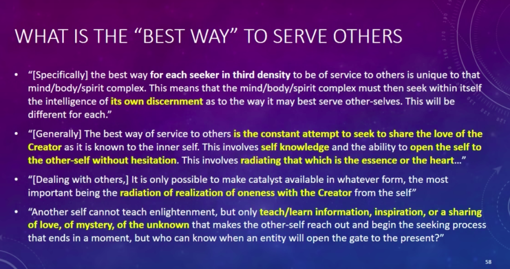 Law of One Best Way To Serve Others