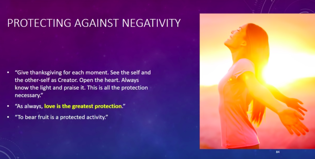 Law of One Protecting Against Negativity